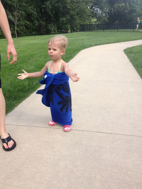 Lily Leaving the Splash Park